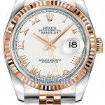 Rolex 116231 White Roman Jubilee  Datejust 36mm Stainles