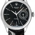 Rolex 50519 Black  Cellini Date 39mm Mens Watch
