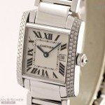 Cartier Tank Francaise Medium Size Ref-WE1018S3 18k White