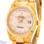 Rolex Day-Date Ref-18208 18k Yellow Gold Box Warranty Bj