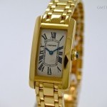 Cartier Tank Americaine 18 kt Yellow Gold Quarz