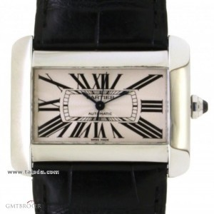 Cartier DIVAN 2612 IN STEEL AND LEATHER 2612 74823