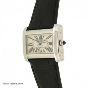 Cartier DIVAN 2612 IN STEEL AND LEATHER 2612 74817