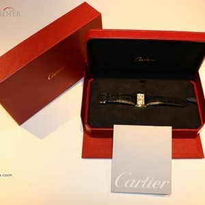 Cartier DIVAN 2612 IN STEEL AND LEATHER 2612 74827
