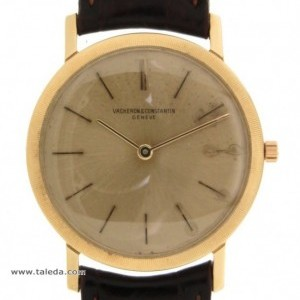 Vacheron Constantin ULTRAPIATTO 6351 IN YELLOW GOLD AND LEATHER 32MM 6351 74427
