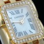 Cartier Panthere Ruban mit Besatz  with Diamond Bezel  ca