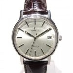 Omega Classique Mcanique Steel Case On A Leather Band Si