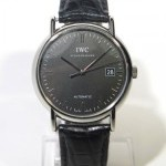 IWC Portofino 3533 Full Set Slate Grey Steel On Leathe