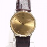 Omega De Ville 1365 Yellow Gold 14k Case On A Leather Ba