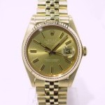 Rolex Datejust Gold 16018 Or Jaune 18k Cadran Or Bronze