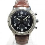 Breguet Type Xx Chrono 3820 Steel Case On Leather Strap