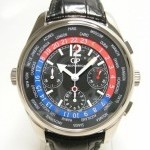 Girard Perregaux Ww Tc World Time Chrono Ref 4980 Or Blanc Sur Cuir
