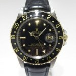 Rolex Black And Gold Nipples Gmt Master Ref 1675 Steel C