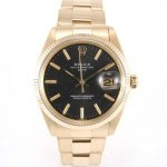 Rolex Date 1503 Full Yellow Gold Full Yellow Gold 18k Bl