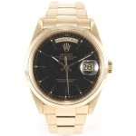 Rolex Day Date 18208 Gold A Series Yellow Gold 18k Black