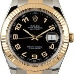 Rolex Used  Datejust 116333 Black Arabic Dial