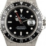Rolex PreOwned  GMT Master II Ref 16710 Black Dial