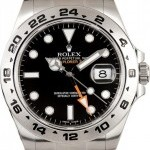 Rolex Mens Steel Explorer II Black 216570 X