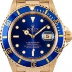 Rolex 18K Blue  Submariner 16618