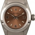 Rolex Ladies  Oyster Perpetual 67180 Salmon Dial