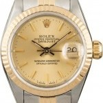 Rolex PreOwned  Datejust 69173 Champagne Dial Lady