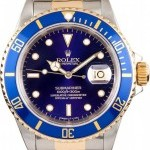 Rolex Mens  Submariner Steel  18K 16613