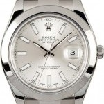 Rolex Datejust 41MM 116300 Silver 100 Authentic