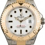 Rolex YachtMaster 16623 Two-Tone White Dial