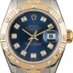 Rolex Used  Lady-Datejust 179313 Blue Diamond Dial