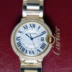 Cartier Ballon Bleu 18k Gold  Diamond 36mm Watch NEW BoxPa