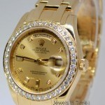 Rolex Masterpiece Day-Date 39mm 18k Gold Diamond Mens Wa