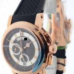 Breguet Marine Chronograph 18K Rose Gold Mens Watch BoxPap