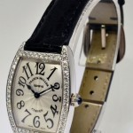 Franck Muller Curvex 18k White Gold Diamond Watch BoxPapers 1752
