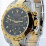 Rolex Daytona 18k Gold  Steel Chronograph Mens Automatic