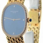 Patek Philippe 3849 Ellipse 18k Yellow Gold Diamond Bezel  Dial
