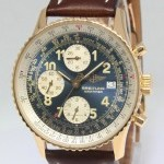 Breitling Old Navitimer Chronograph 18k Yellow Gold Mens Aut