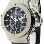 Hublot Aero Bang Chronograph Steel Skeleton Mens Watch 31