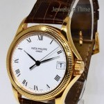Patek Philippe Calatrava 18k Rose Gold Mens Watch BoxPapers 5117R