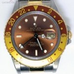 Rolex GMT Master II 18k Gold  Steel Watch Root Beer Oyst
