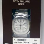 Patek Philippe Mens Nautilus Steel Chronograph Watch BoxPapers 59