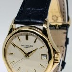 Patek Philippe Calatrava 18k Yellow Gold Watch BoxPapers Deployan