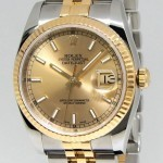 Rolex Details about   Datejust 18k Yellow Gold Steel Cha