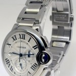 Cartier Ballon Bleu Automatic Chronograph Steel Watch  Box