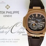 Patek Philippe Nautilus 18k Rose Gold Mens Watch BoxPapers 5712R-