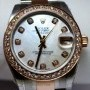 Rolex Datejust 18k Pink Gold Steel Custom MOP  Diamonds
