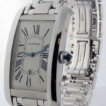 Cartier Large Tank Americaine 18k White Gold Automatic Men