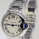 Cartier Ballon Bleu Ladies Steel Quartz Watch BoxPapers W6