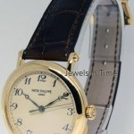 Patek Philippe Calatrava 18K Yellow Gold Mens Officers Watch BoxP