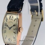 Vacheron Constantin Vintage Long Curved 14k Gold Case Windup Watch