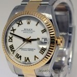 Rolex 31mm Datejust 18k Gold Steel Automatic Midsize Wat